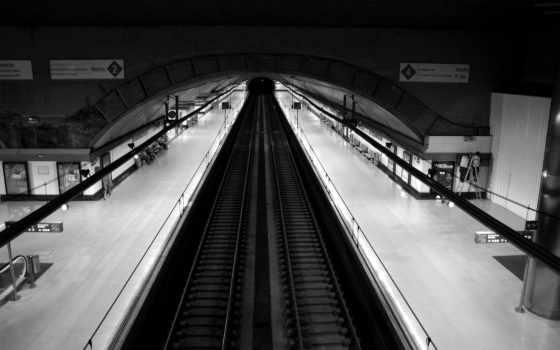чёрно, белые, metro, мегапак, станции, подземной, города, железная, белое, красивые,
