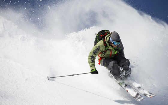 лыжи, фрирайд, горы