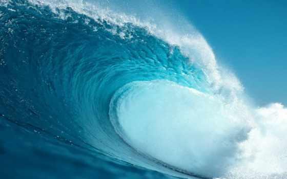 красивая морская волна