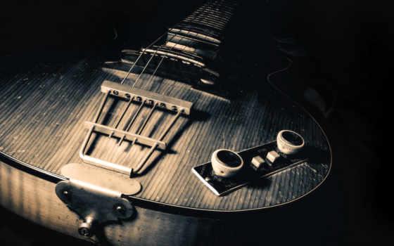 guitarra, музыка, плакат, con, tocar, para, макро, fondo,
