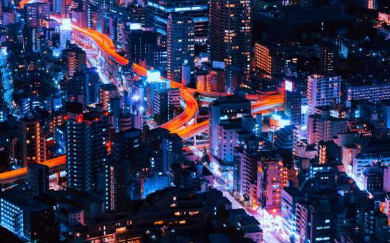 свет, ночь, здания
