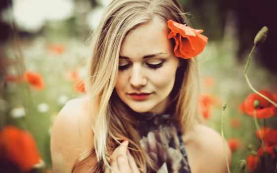 flowers, стать, спонсором, everything, поле, девушка,