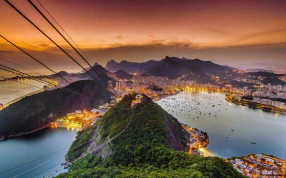 rio, janeiro, гора, brazil, sugarloaf, рио,