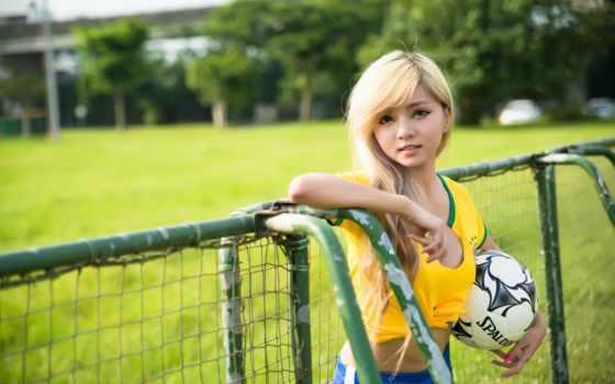 футбол, девушка, картинка, soccer, girls,