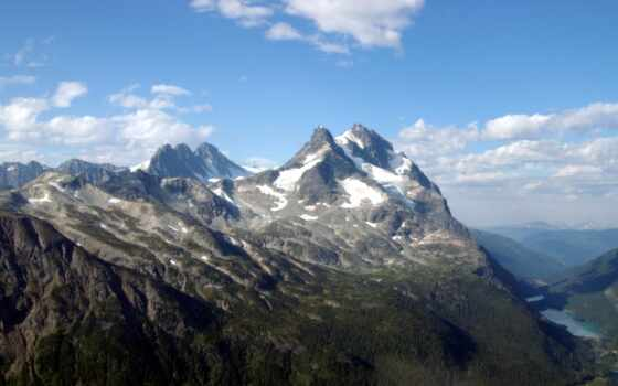 mountain, peak
