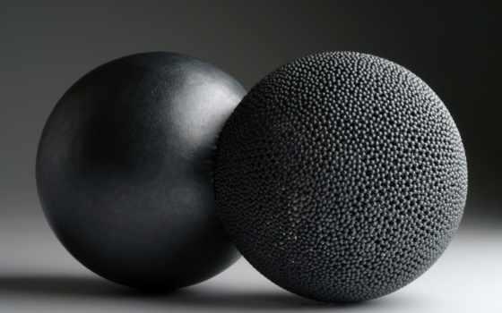 шары, черный