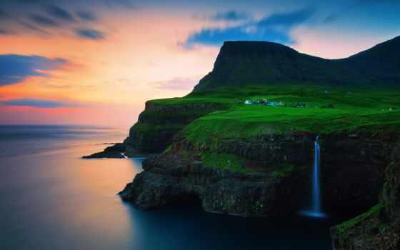 острова, фарерские Фон № 31712 разрешение 1920x1080