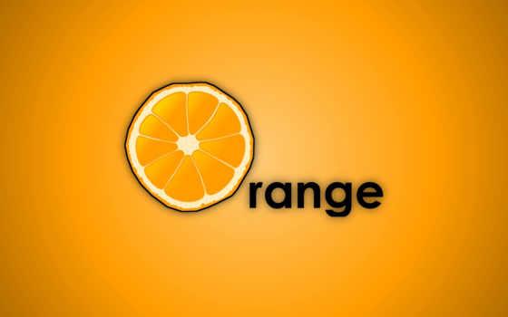 оранжевый, mac, плод