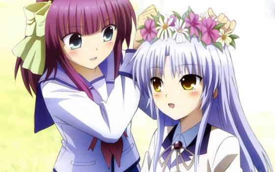 ритмы, ангельские, uri, anime, канаде, yuri, качества, высокого, персонажи,