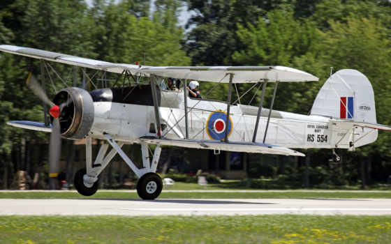 plane, swordfish, fairey, biplane, air,