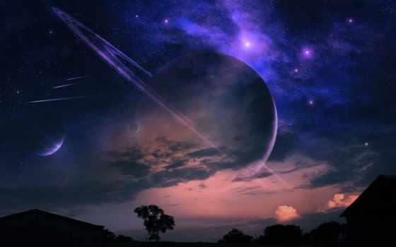 космос, закат, germind,