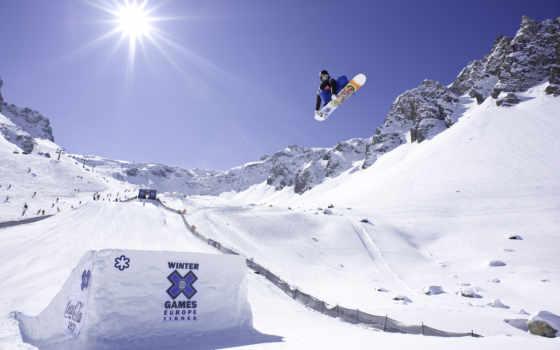 сноуборд, snowboarding, снег