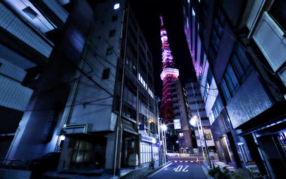 tokyo, башня, desktop, япония, улица, free,