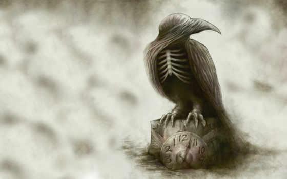 ворона, art, фэнтези, часы, pinterest, ворон, save, more,