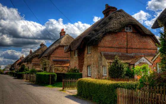 дома, английской, англии, house, города, домов, великобритания, деревне, деревня, провинции, винчестер,