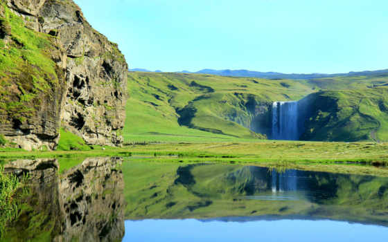 iceland, исландии, marsu, водопад, прогулка, которое, треккинг, туры, skogafoss, national, route,
