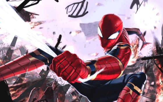 бесконечность, war, паук, avengers, spiderman, мужчина, marvel, art,