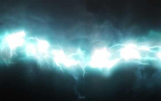 lightning, white, blue, свечение, минимализм