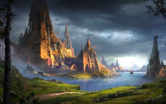 art, ван, velsen, доминик, арта, красивый, fantasy, landscape, sail, комментарий, развернуть