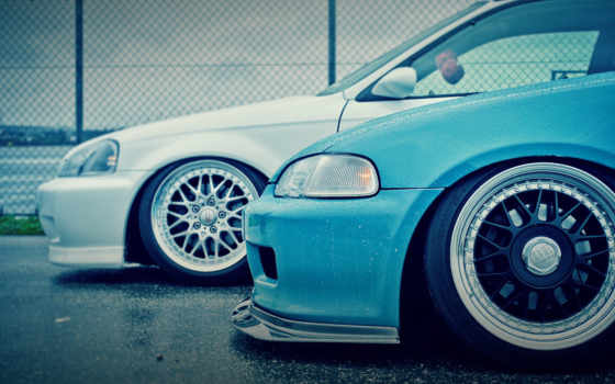 honda, cars, civic, tuning, download, blue, free,