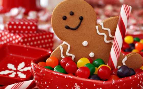 конфеты, печенька, новогоднее