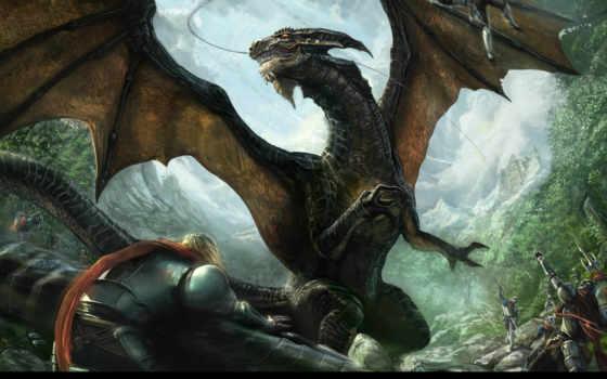 дракон, art, fantasy, драконами, драконом, июл, michael, дракона, красивые,