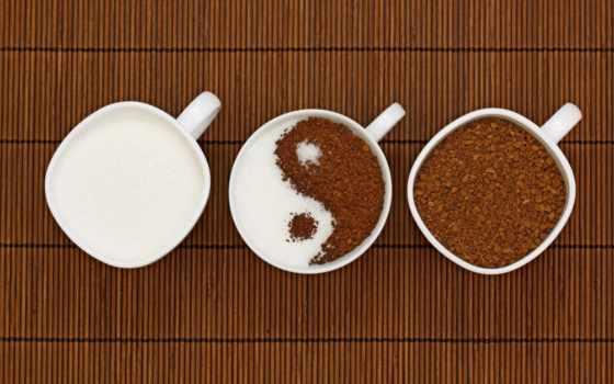 кофе, yin, чашки, фотообоев, сахар, то, еда, часть, напитки, изображение, янь, yang,