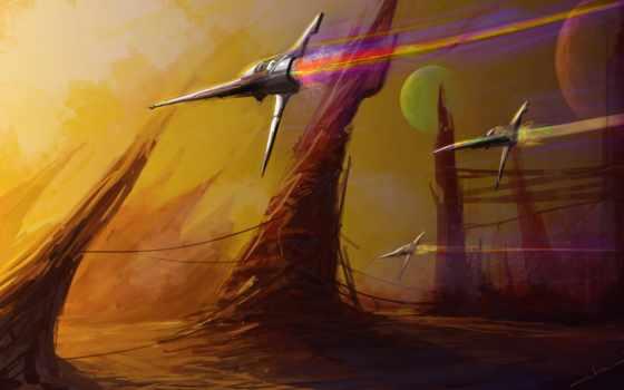 futuristic, spaceships, фантастика