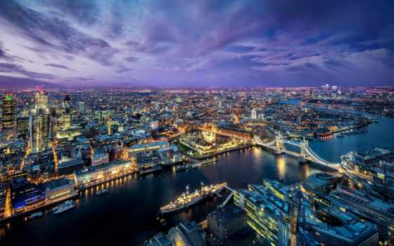 город, ночь, london, панорама,