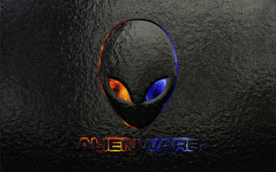 alienware, голова, инопланетянин, логотип, пришельца, чужие,
