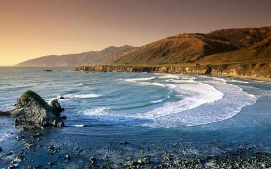 сша, море, горы