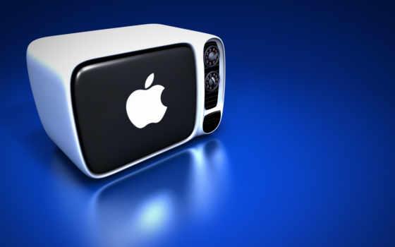 apple, тв, blue