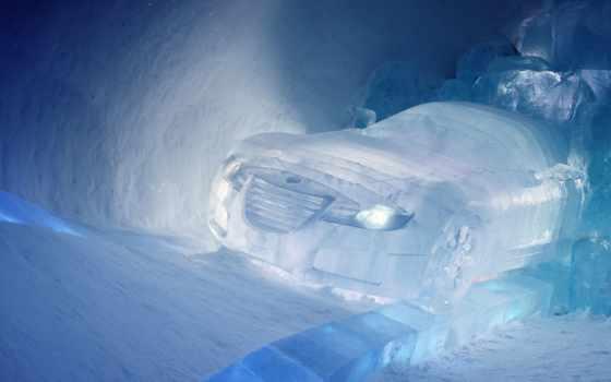 , машина, бентли, лед