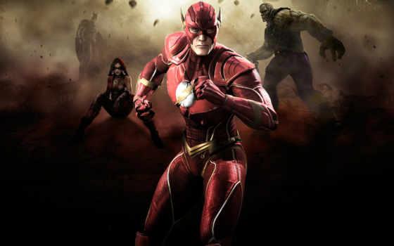flash, injustice, batman, among, gods, fighting, grundy, соломоновы, harley, quinn,