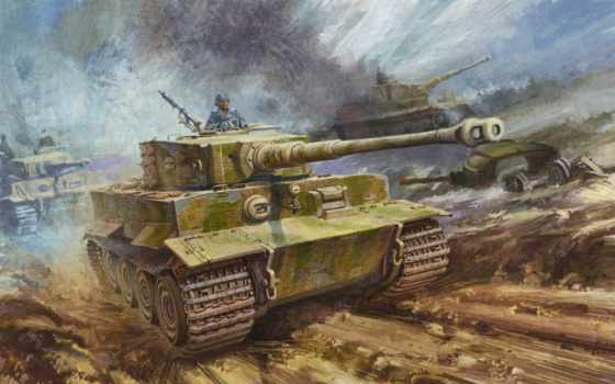 тигр, танк, heavy, рисунок, pzkpfw, sdkfz,