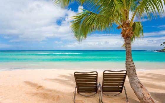 отдых, острова, summer, настроение, тепло, берег, пляж, пейзажи -, пальмы, стулья, шезлонги,