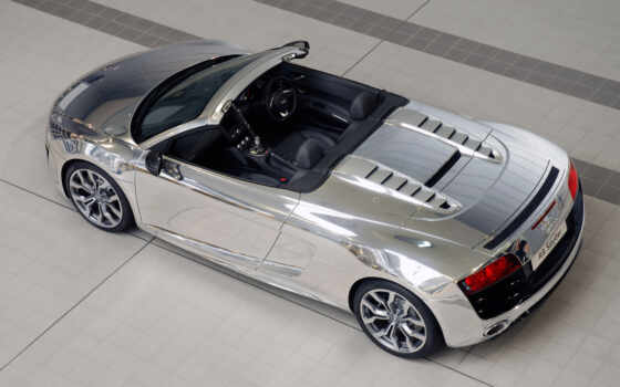 audi, spyder, chrome, photo, chromed, elton, view, ejaf, car, aids, john, download,