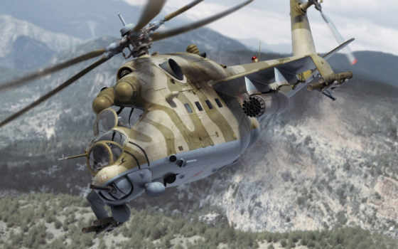 ми-24, полет, вертолет