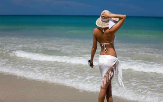 девушка, пляже, devushki