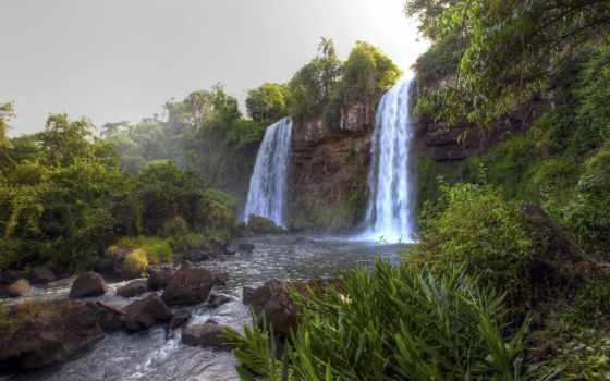 водопады, falls, игуасу, водопад, игры, высокого, уровень, богатства, морей, природа,