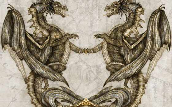 дракон, два, глаза, title, presented, схема, вышивка, крыло, автор, под