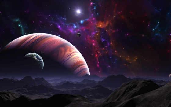 космос, планеты, звезды, картинка, планета, ort, гигант, ein, картинку, газовый, звезда, галактика, вселенная, der, ландшафт, поверхность, горы, space,
