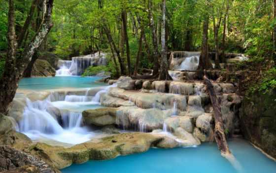 природа, водопад, очаровательная