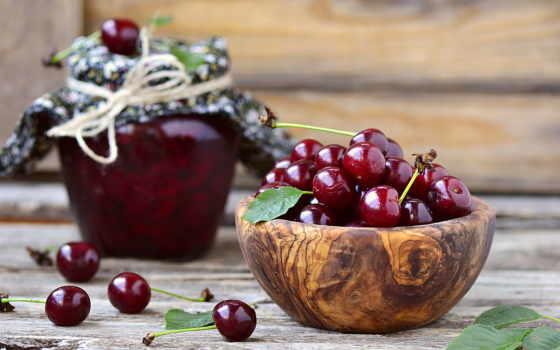 cherry, еда, июня, крупным, планом,