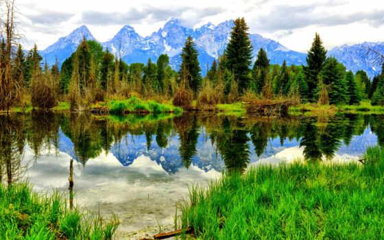 природа, зимняя, горы