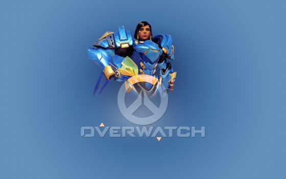 overwatch, pharah, png, ologo, прыжок,