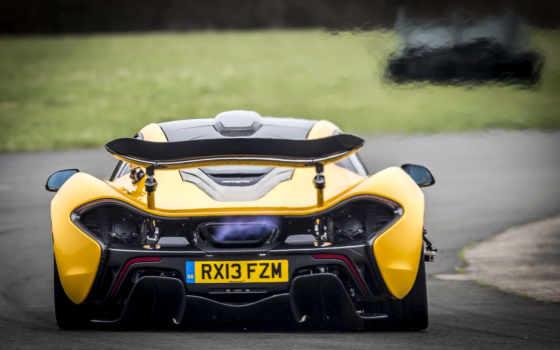 mclaren, yellow, car,
