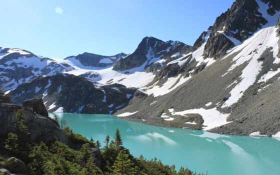 озеро, wedgemount, музыка, british, columbia, uhd, медитация, оц,