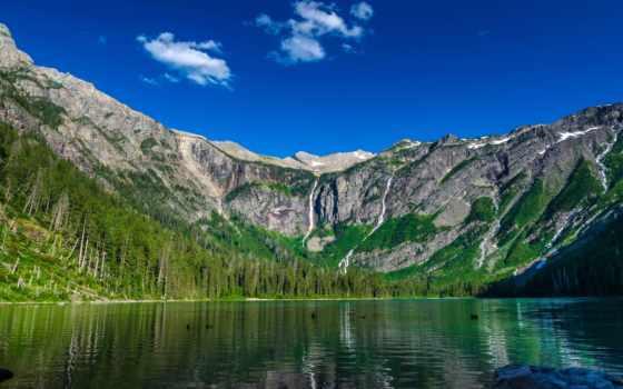 горы, озеро, desktop, гора, природа, широкоформатные,
