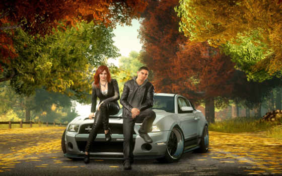 два, осень, авто